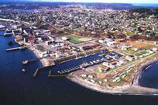 Aerial view of Port Townsend
